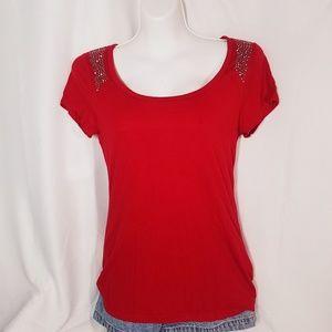 Y2k Bling Red Top